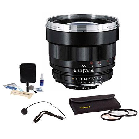 Zeiss 85mm f/1 4 Planar T* ZF 2 Manual Lens for Nikon F (AI-S) #1767826  -BUNDLE-