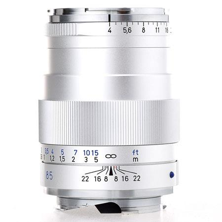 Zeiss 85mm f/4 Tele-Tessar T* ZM Lens, for Leica M Mount Cameras, Silver