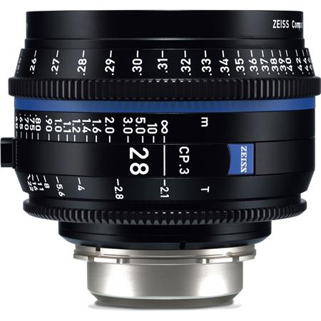 Zeiss 28mm T2 1 CP 3 Compact Prime Cine Lens (Metric) with Canon EF EOS  Mount