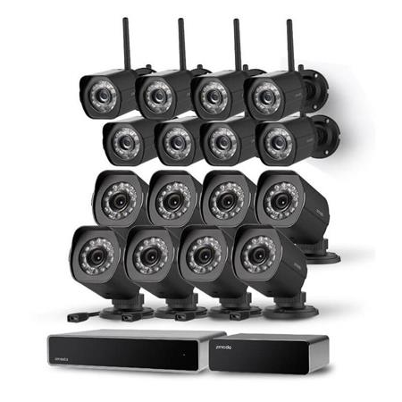 Zmodo 32-Channel Network NVR Business Security System with 8x sPoE Wired  Camera, 8x 720p HD IP Surveillance Wireless Camera and Repeater, No HDD