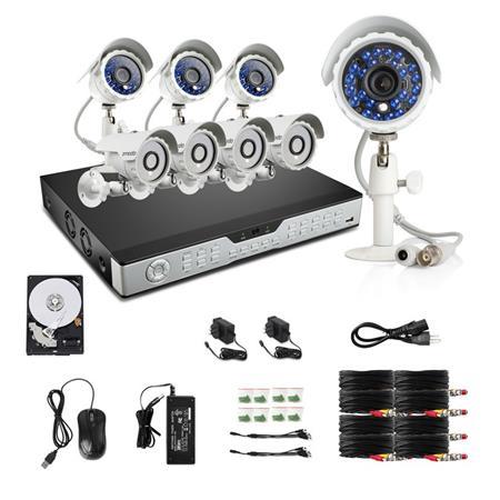 Zmodo 16CH H 264 DVR Security System, Includes 8x KDH6