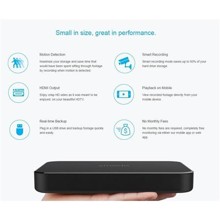 Zmodo 720p HD Smart Wireless Home Kit, Includes 4x Indoor/Outdoor Wi-Fi  Security Cameras, ZM-SS7008B4 NVR with 1TB HDD