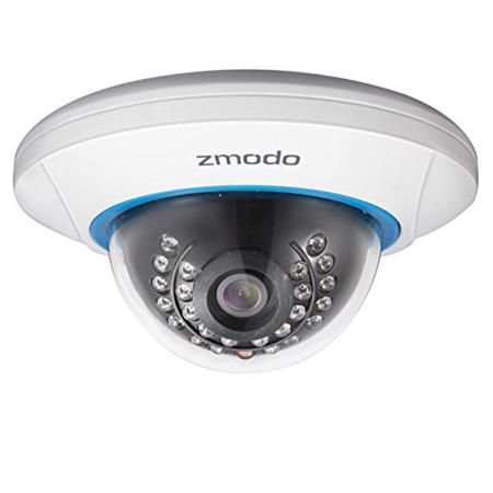 Zmodo ZP-IDP15-P 720p HD IP PoE Dome Camera, White ZP-IDP15-P