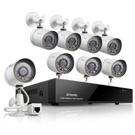 Zmodo 8ch 720p Nvr Security System Includes 8x Bullet Ip