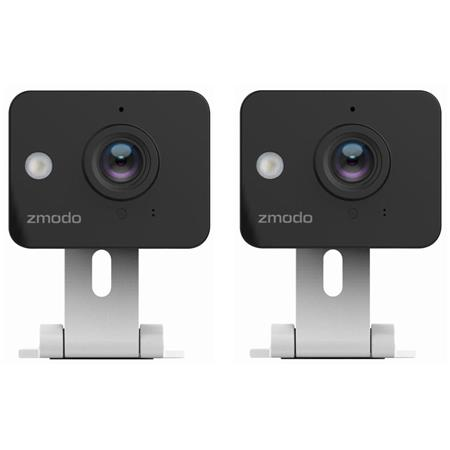 Zmodo 720p HD Mini Wi-Fi Wireless Security Camera with Two-Way Audio &  Night Vision, 2 Pack