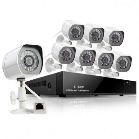 Zmodo 8CH 720p Simplified POE NVR System with 1TB HDD, Includes 8x Bullet  IP Network Camera, USB Mouse