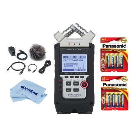 Zoom H4n Pro Handy Mobile 4 Track Recorder With Accessory Bundle