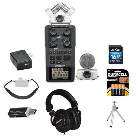 Zoom H6 Portable Recorder for ENG Field Recording Kit 4 Mic Inputs
