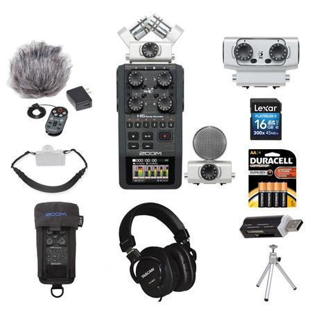 Zoom H6 Portable Recorder for ENG Field Recording superior it 6 Mic Inputs