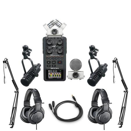 Zoom H6 Handy Recorder with Interchangeable Microphone System With  Accessory Kit