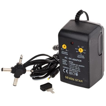 12 Volt Converter >> Adorama Seven Star By 1 5 Volt 12 Volt Dc 500ma Universal Ac Converter With Multiple Connector Ends