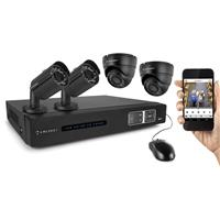 1TB 4-Channel 720p HD Tribrid HDVCI DVR Security System w...