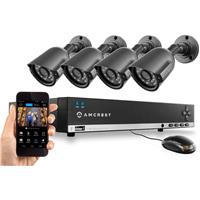 500GB 4-Channel 960H DVR Security System with 4x800+ TVL ...
