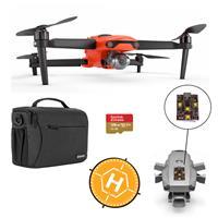 "Autel Robotics EVO II Drone - Bundle With 128GB MicroSDXC Card, Firehouse Technology ARC White, Strobe FS Labs 36"" Collapsible Foldable Landing Pad, Shoulder Bag"