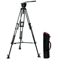Bogen-Manfrotto 501HDV Fluid Video Head with 546B Aluminum Tripod Legs
