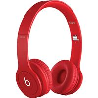 Solo HD On-Ear Headphones, with In-Line Mic, Drenched in Red