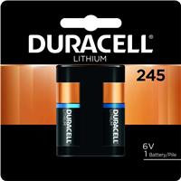 Duracell 245-6.0 volt Lithium Photo Battery 2CR5