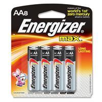 Energizer Max AA Batteries, 1.5 volt Alkaline, Pack of Eight
