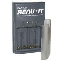 Viatek Renu-it Battery Regenerator, Disposable Battery Recharger