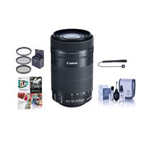 Canon EF-S 55-250mm f/4-5.6 IS STM Lens - Bundle with 58m...