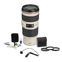 Canon EF 70-200mm f/4L IS USM Autofocus Lens Kit, USA wit...