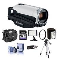 Canon VIXIA HF R800 3.28MP Full HD Camcorder, White - Bun...