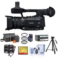 Canon XF200 High Definition 1080P Camcorder, 20X Optical Zoom - Bundle With Video BAG, 32GB Compact Flash Card, Tripod, Spare Battery, 58MM Filter KIT, Cleaning KIT, Memory Wallet