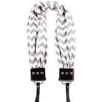 Capturing Couture Scarf DSLR Camera Strap, Chevron Gray a...