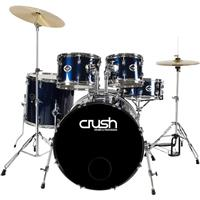 Alpha Complete 5pc Drumset Package w/Cymbals-Blue