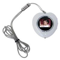 CTA Digital Heart Shape Digital Photo Frame Necklace