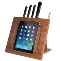 CTA PAD-BKS Bamboo Adjustable Kitchen Stand for iPad with...