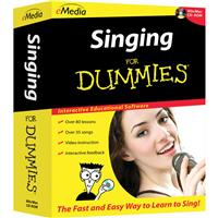 E Media Singing For Dummies Software with 80+ Beginner Le...