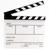 Flashpoint Acrylic Dry Erase Sync Slate with B&W Clappers