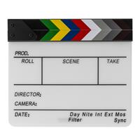 Flashpoint Acrylic Dry Erase Sync Slate with Color Clappers