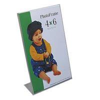 Microsem Acrylic Bent Frame, Ultra-Clear 'L' Easel Frame,...