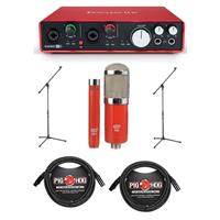 Focusrite Scarlett 6i6 USB Audio Interface, 2nd Gen - Bun...