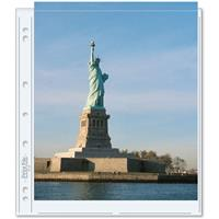 """Print File Photo Pages Holds Two 8.5x11"""" Prints, Pack of 100"""