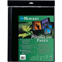 """Itoya Art Profolio 16"""" X 20"""" Crystal Clear Polyglass Pages, 10 Pages Per Pack"""