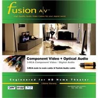 Fusion A/V Standard Component 3 RCA RGB Video Cable with ...