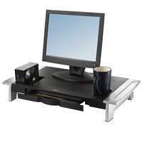 Fellowes Office Suites Premium Monitor Riser, Black/Silver
