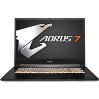 "Gigabyte AORUS 7 17.3"" Full HD 144Hz Gaming Notebook Computer, Intel Core i7-10750H 2.6GHz, 16GB RAM, 512GB SSD, NVIDIA GeForce RTX 2060 6GB, Windows 10 Home, Black"