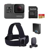 HERO5 Black - Bundle With GoPro Head Strap + QuickClip, 3...