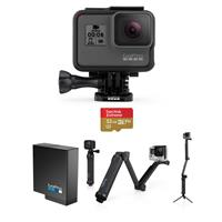 HERO6 Black - Bundle With GoPro 3-Way 3-in-1 Mount, 32GB ...