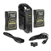 IKAN C-2KIT-95A Dual Pro Battery Charger with 2x 95Wh Gol...
