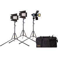 IKAN IBK2316 Flyweight Interview Light Kit, Includes ILED...