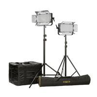 IKAN ID500-v2 LED Studio 2-Light Kit, Includes 2x AB Moun...