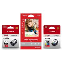 Canon Ink Package with PG-243 Black, CL-244 Color Ink Car...