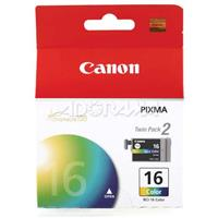 Canon BCI-16 Tri-Color Ink Tank Twin Pack for iP90v, iP90...