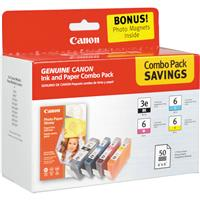 Canon Combo Value Pack BCI-3e/6 4 Colors with Photo Paper...