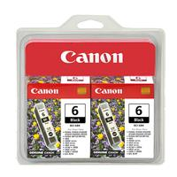 Canon BCI-6 Black Ink Twin Multipack for 8 Color Inkjet P...